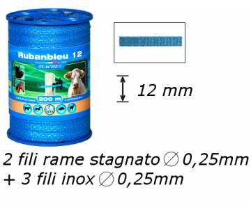 Banda per recinzioni elettriche - Ruban Bleu 12mm