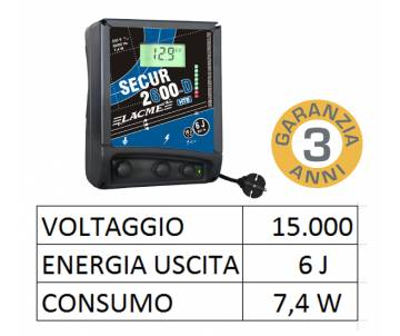 Elettrificatore 230V - Secur 2600 Digitale HTE