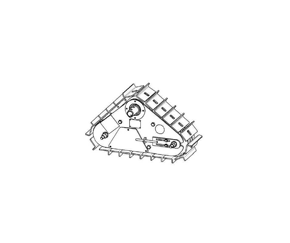 Cingoli con nastri in acciaio - DX 700 per motocoltivatore 10/14 cv