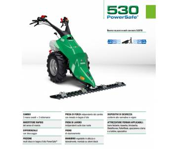 Motofalciatrice 530 PS - HONDA GX270 8,4 HP benzina