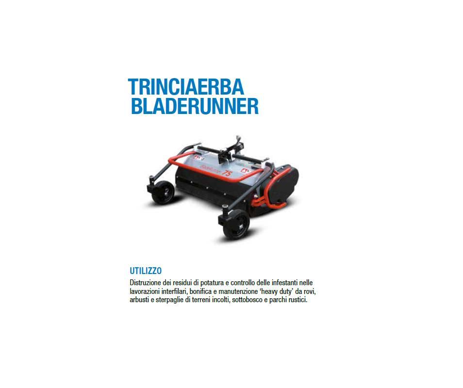 Trinciaerba Bladerunner cm 60 a coltelli mobili - Potenza minima richiesta 7 cv