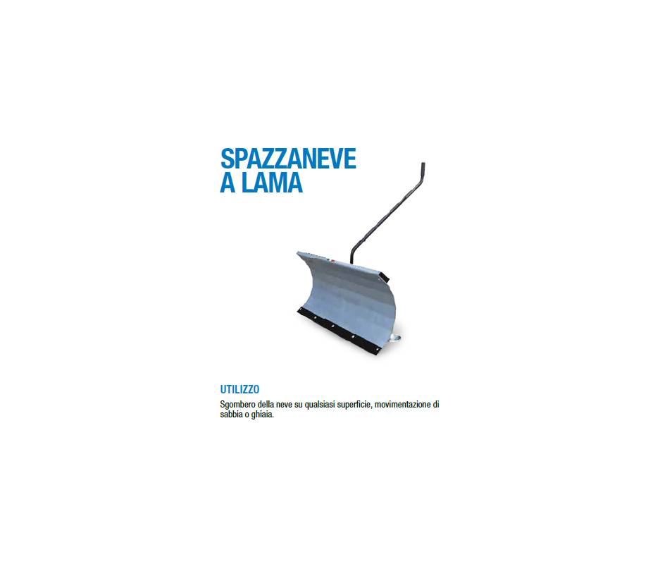 "Spazzaneve a lama cm 100 ""professional"" - BCS / Ferrari"
