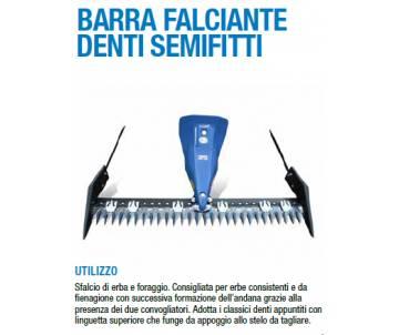 Barra falciante mt 1,45 Semifitta -Motocoltivatori BCS/Ferrari