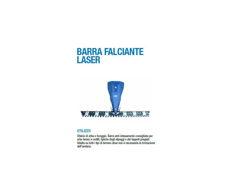 Barra falciante mt 1,35 LASER - per motocoltivatori BCS/Ferrari