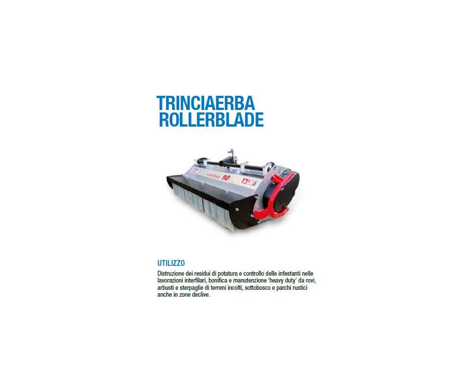 Trinciaerba Rollerblade cm 90 a coltelli mobili - Potenza minima richiesta 10 cv