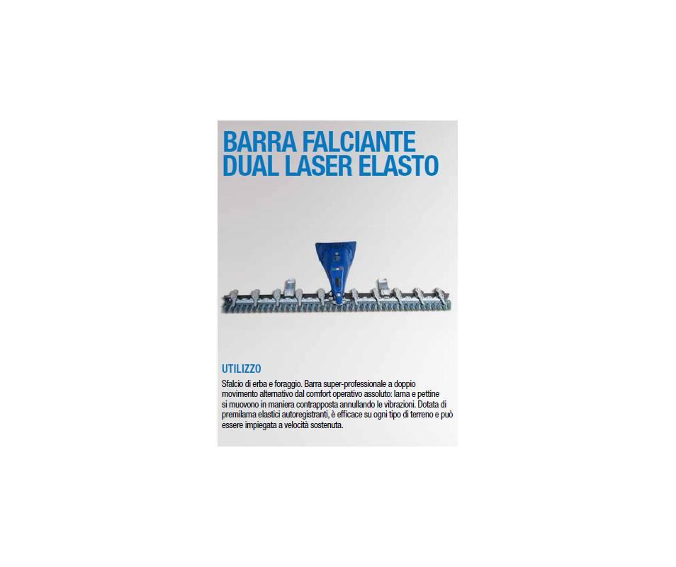 Barra falciante dual laser cm 210 - doppio movimento