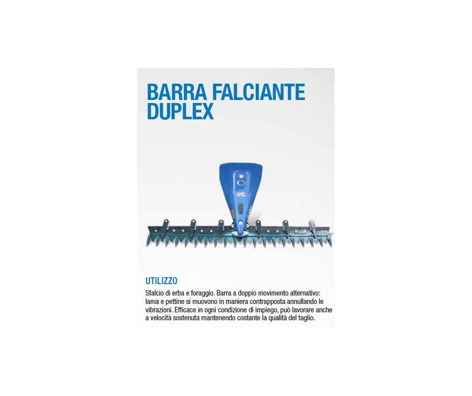 Barra falciante Duplex a doppio movimento cm 120