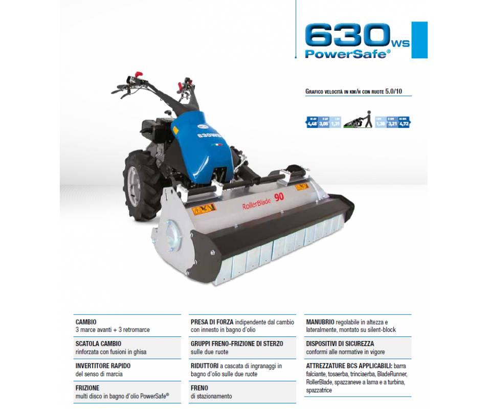 BCS 630 WS PS - Honda GX340 ALPS 10,7 HP - versione motore per forti pendenze Bcs