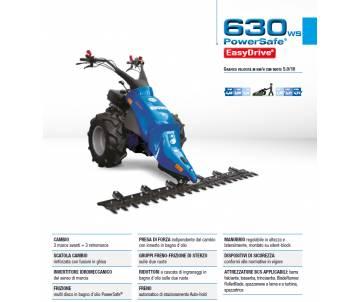 Motofalciatrice BCS 630 WS EASYDRIVE - Honda GX340 ALPS Bcs