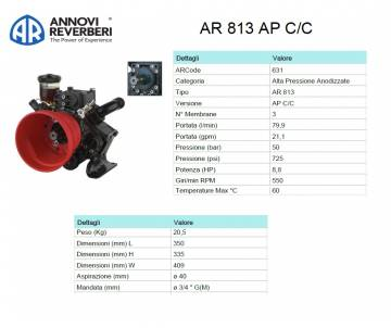 AR 813 AP C/C - Pompa alta...