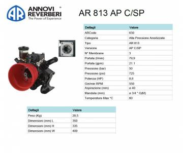 AR 813 AP C/SP - Pompa alta...