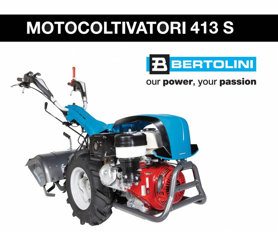 Motocoltivatore 413 S - Emak K 9000 HD 9,2 CV AE diesel Bertolini