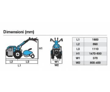 Motocoltivatore Bertolini 413 S - Kohler CH395 - 9,5 CV benzina Bertolini