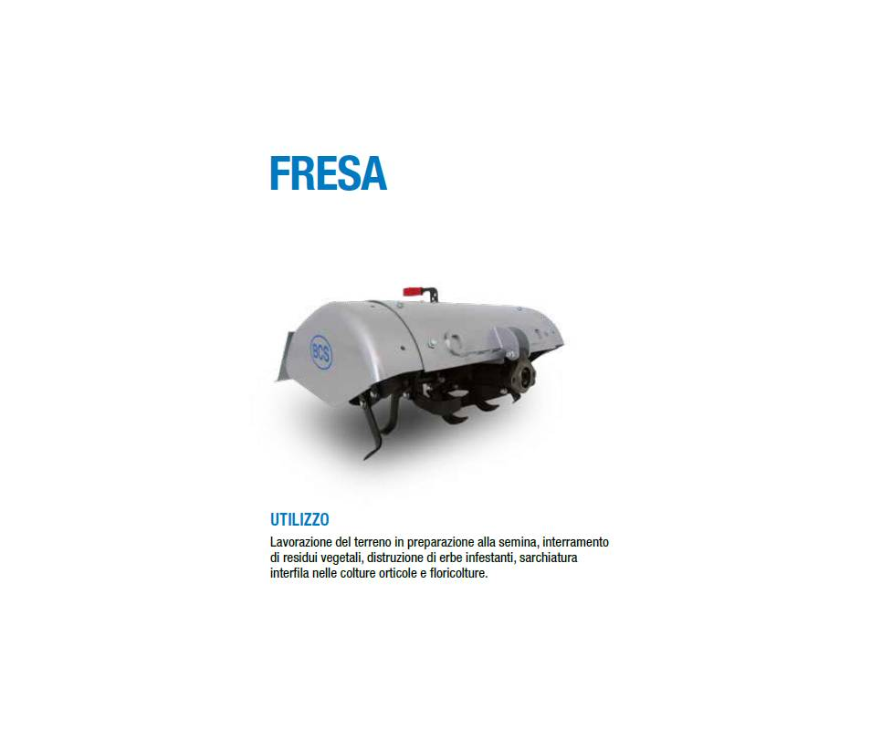 Fresa cm 85 ( versione pesante) - per motocoltivatori BCS/ Ferrari