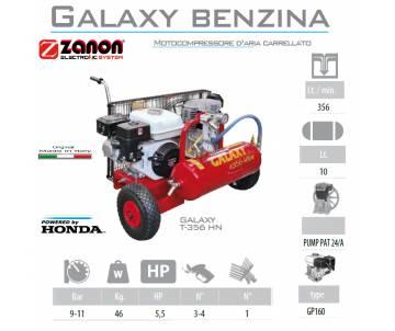 Compressore 356 lt/min con motore GP160 5 cv - benzina Motocompressori
