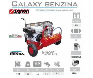 Compressore 456 lt/min con motore GP160 5 cv - benzina