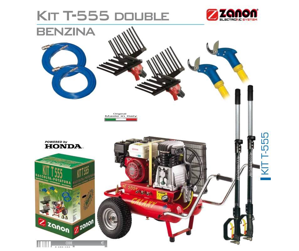Kit motocompressore a benzina 500 litri/min - Motore Honda per raccolta e potatura Motocompressori
