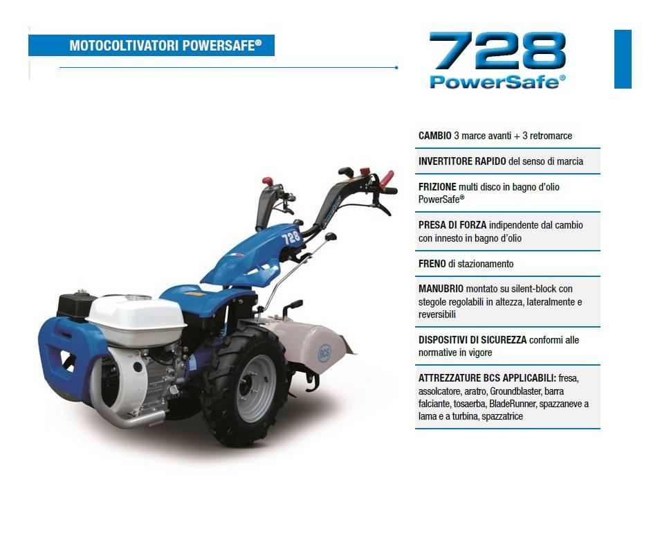 Motocoltivatore BCS 728 - HONDA GP 160 4.8 HP benzina BCS