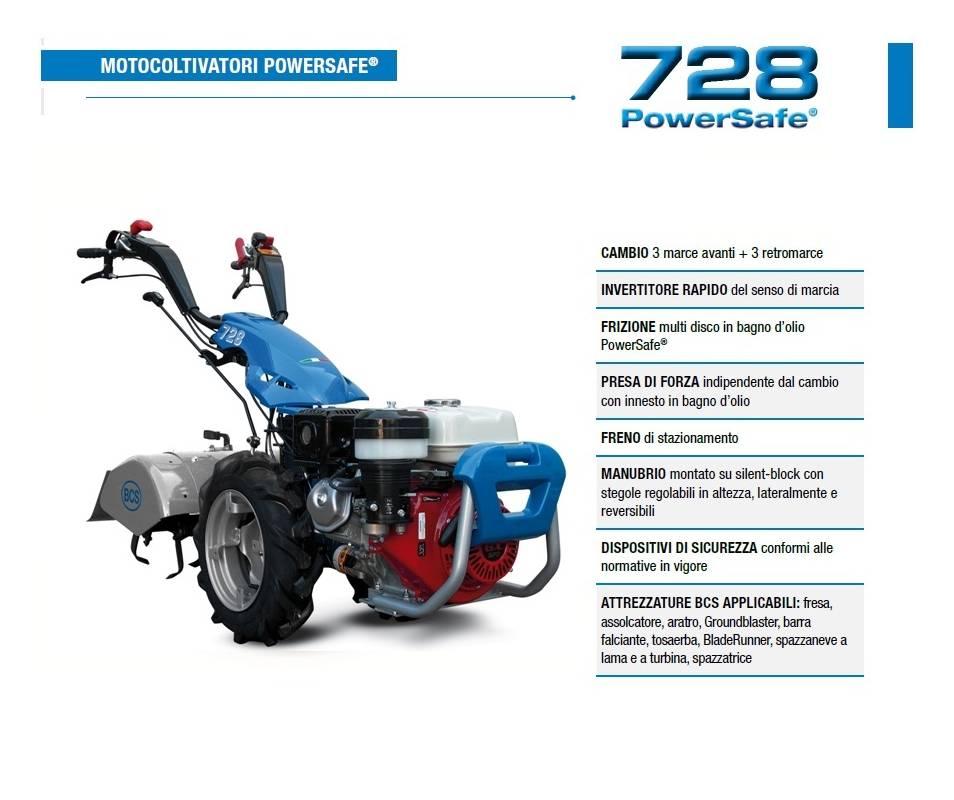 Motocoltivatore BCS 728 - Honda GX200- 5,5 HP BCS