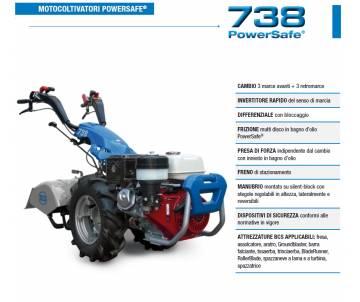 Motocoltivatore BCS 738 HONDA GX270 8,4 HP avviamento manuale benzina