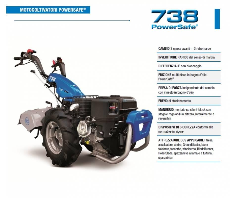Motocoltivatore BCS 738 Briggs & Stratton serie XR1450 9,5 HP BCS