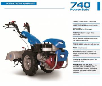 Motocoltivatore BCS 740 HONDA GX390 11,7 HP
