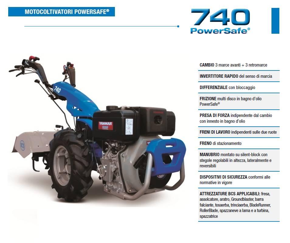 Motocoltivatore BCS 740 YANMAR LV 100 10 HP Diesel avv. manuale BCS