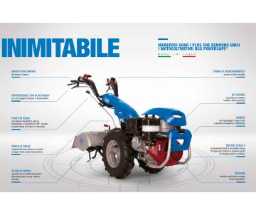 Motocoltivatore BCS 740 YANMAR LN100 10 HP Avv. Elettrico BCS