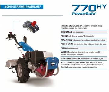 Motocoltivatore BCS 770 HY...