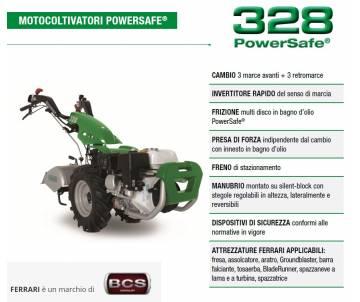 Motocoltivatore FERRARI 328 Kohler KD350 7,5 HP Diesel