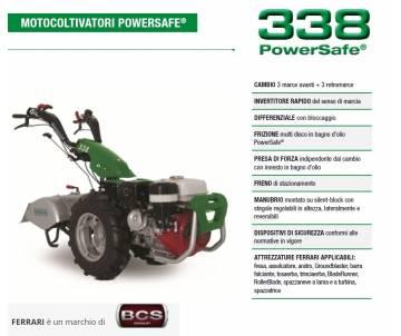 Motocoltivatore FERRARI 338 HONDA GX270 8,4 HP Avv. elettrico