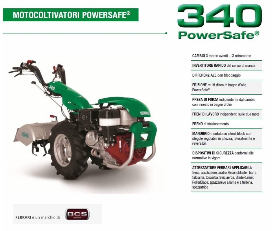 Motocoltivatore FERRARI 340 YANMAR LN100 10 HP Diesel Avv. manuale Ferrari