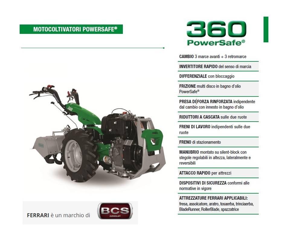 Motocoltivatore FERRARI 360 diesel