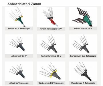 Abbacchiatore elettrico Zanon - Falcon 12 volt con asta telescopica 170/250 cm Abbacchiatori