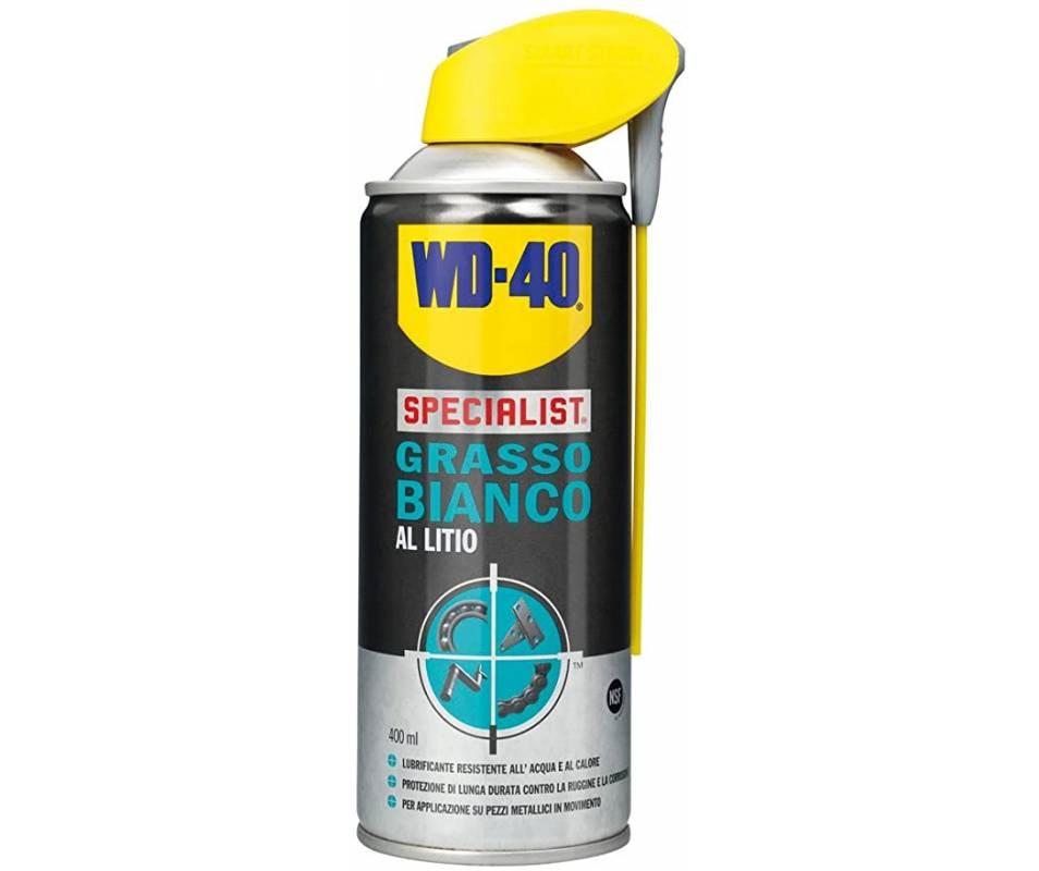 Grasso spray al litio WD 40 - colore bianco  - confezione da 4 pezzi
