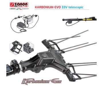 Abbacchiatore elettrico a batteria professionale Karbonium Evo - 33 Volt con asta in fibra di carbonio 170/250 cm