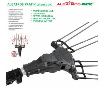 Abbacchiatore Albatros Pratik con Asta di prolunga 210/340 cm Abbacchiatori