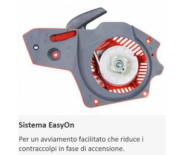 Sistema EasyOn  Per un avviamento facilitato che riduce i contraccolpi in fase di accensione.