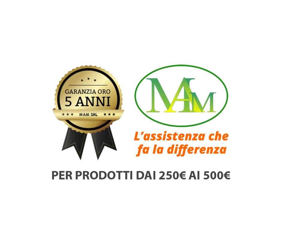 Garanzia ORO (per prodotti da 251 a 500 euro)