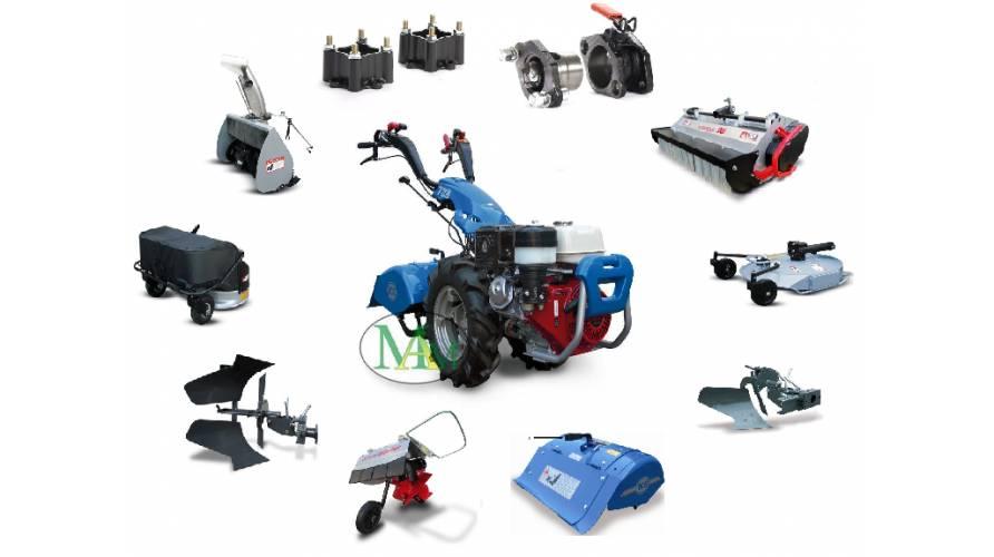 Vendita attrezzi per motocoltivatori - Accessori compatibili come rasaerba o trincia  e ricambi